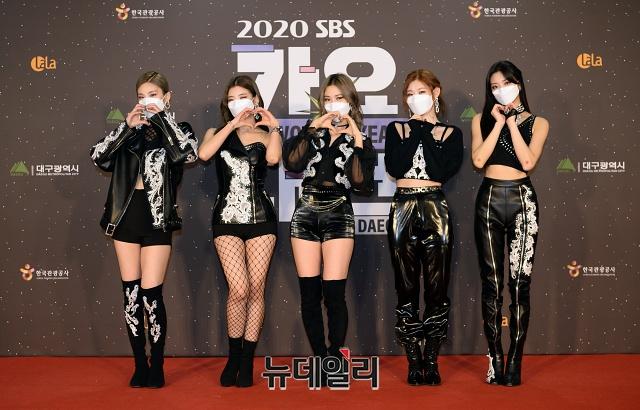 KF94マスクを着用するITZY