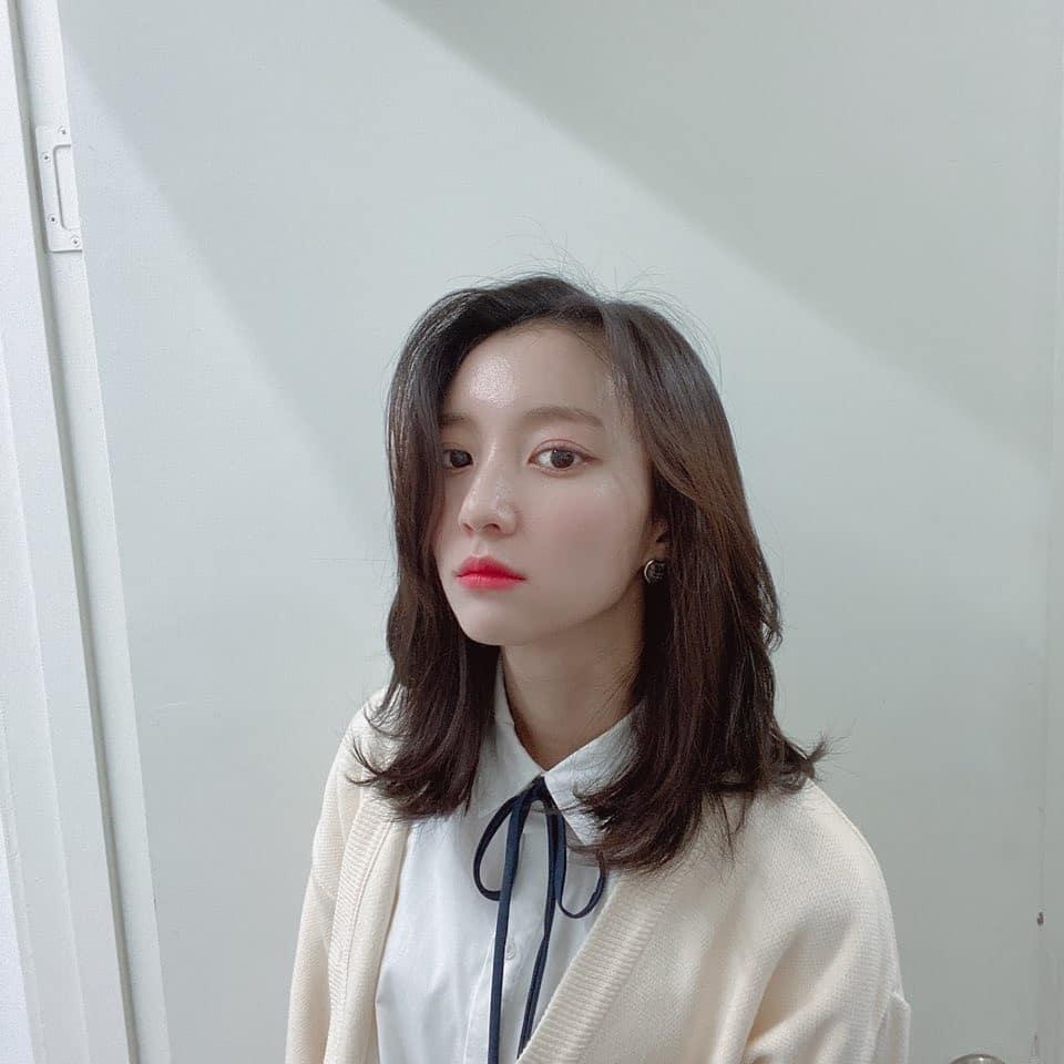 韓国 ミディアムにおすすめの前髪1