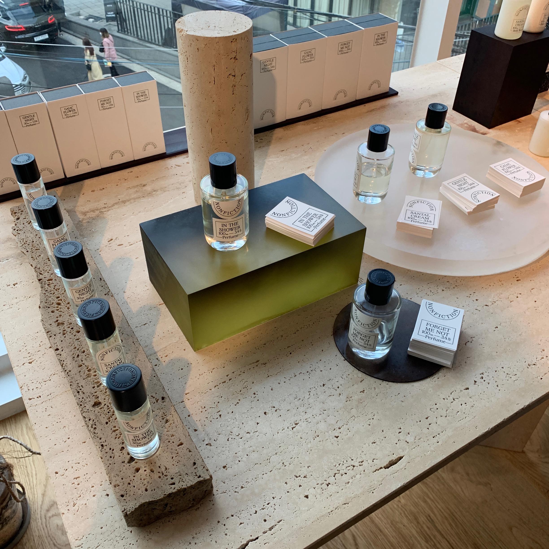 韓国フレグランスブランド nonfiction(ノンフィクション)のショップ香水コーナー