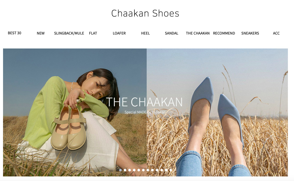 Chaakan shoesサイト