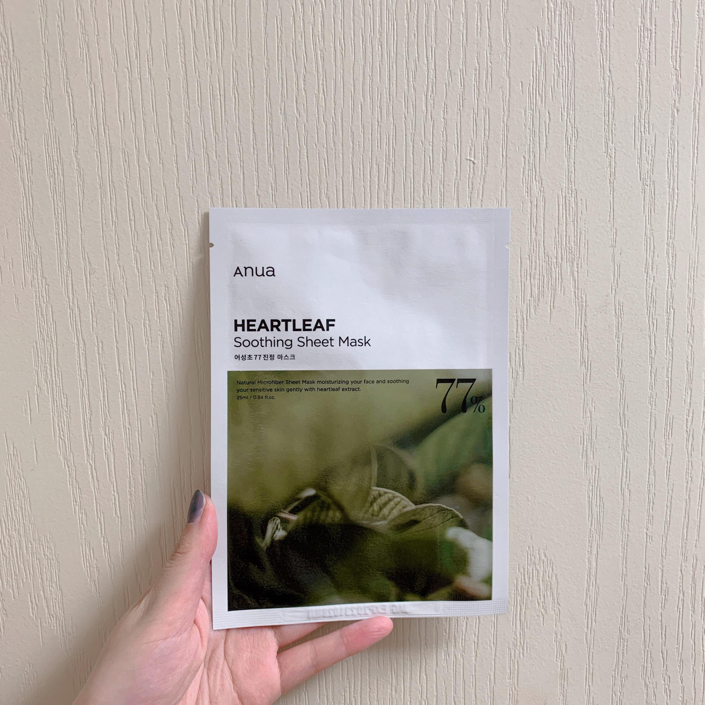 Anua(アヌア)ドクダミ77%スージングシートマスク1