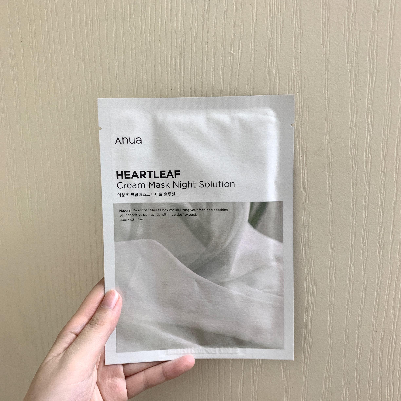 Anua(アヌア)ドクダミクリームマスクナイトソリューション1